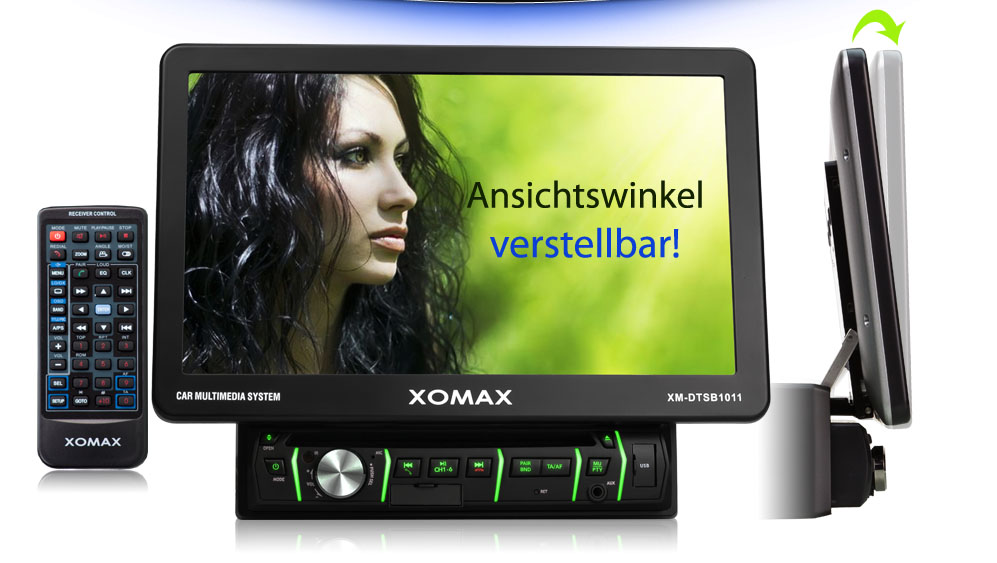 xomax xm dtsb1011 autoradio 25cm touchscreen bluetooth dvd. Black Bedroom Furniture Sets. Home Design Ideas