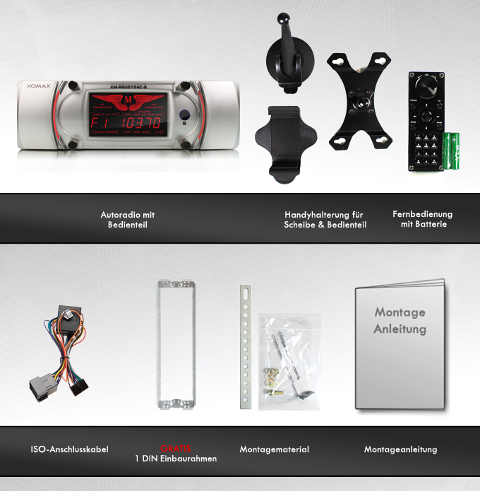 bluetooth autoradio mit app dock iphone android handy. Black Bedroom Furniture Sets. Home Design Ideas
