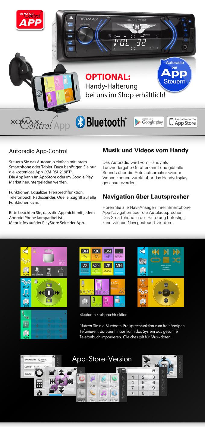 autoradio mit app steuerung f r iphone android handy. Black Bedroom Furniture Sets. Home Design Ideas