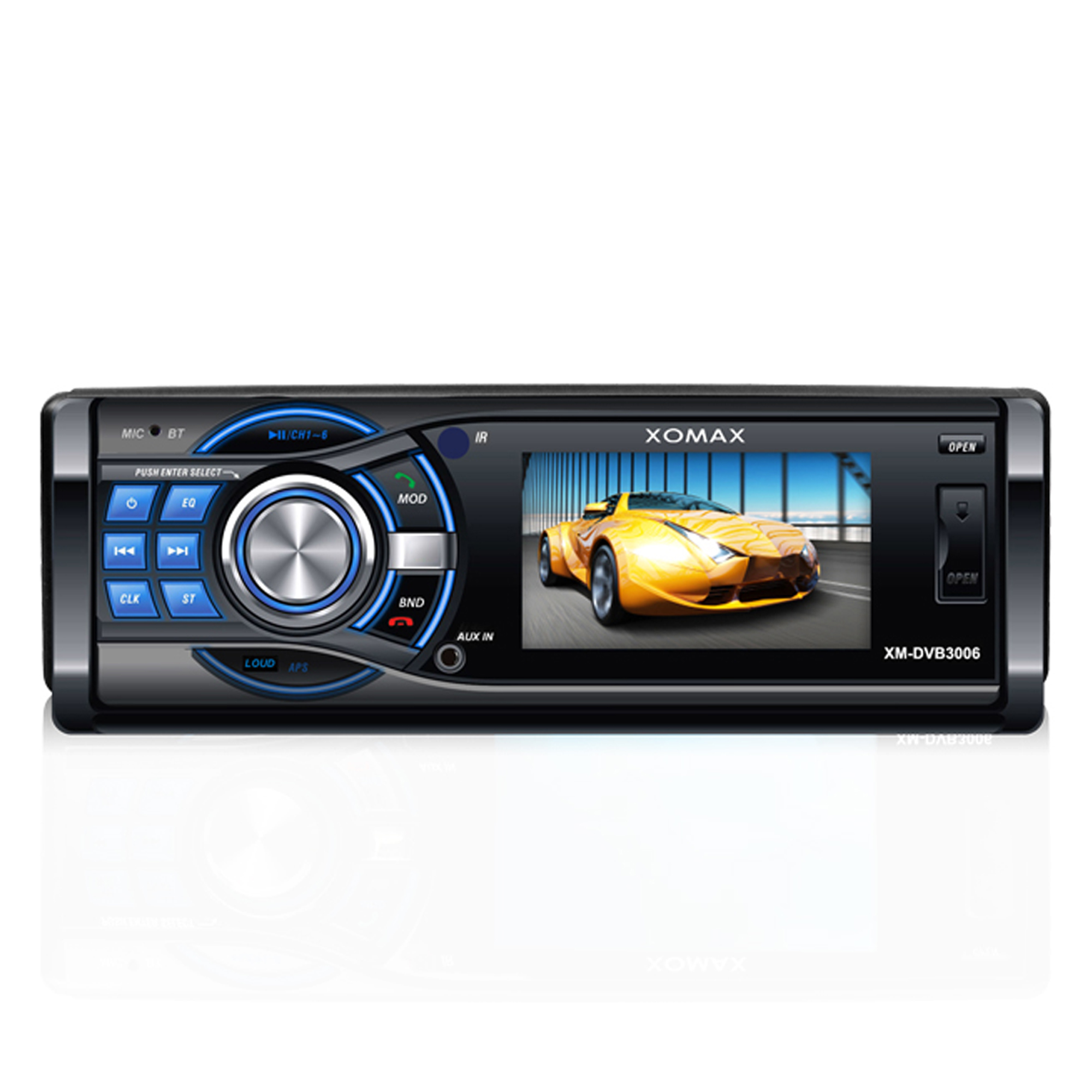 bluetooth autoradio mit 3 zoll display dvd cd player usb. Black Bedroom Furniture Sets. Home Design Ideas