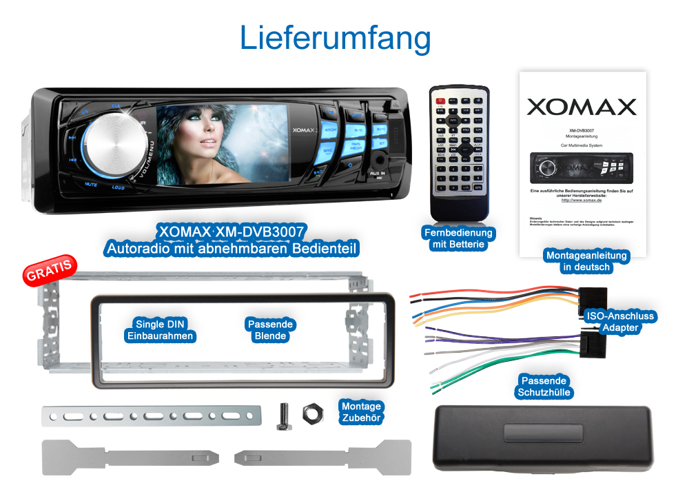 autoradio mit 3 zoll monitor bluetooth dvd cd player usb. Black Bedroom Furniture Sets. Home Design Ideas