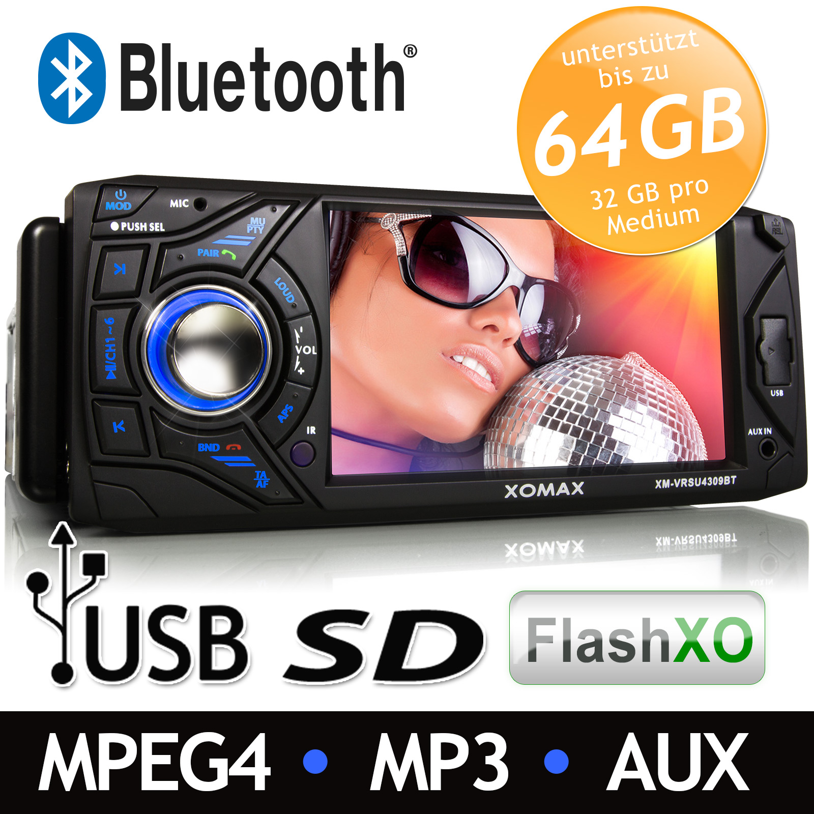 AUTORADIO-TOUCHSCREEN-BLUETOOTH-USB-SD-SDHC-VIDEO-MP3-AVI-RDS-1DIN-ohne-CD-DVD