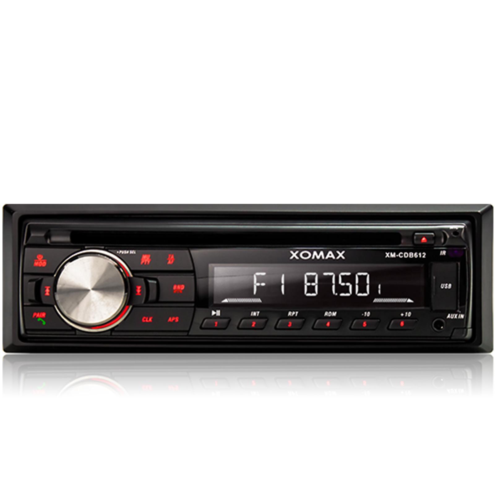 CD-AUTORADIO-mit-Bluetooth-USB-SD-SDHC-MP3-WMA-4x60Watt-Farbe-einstellbar-1DIN