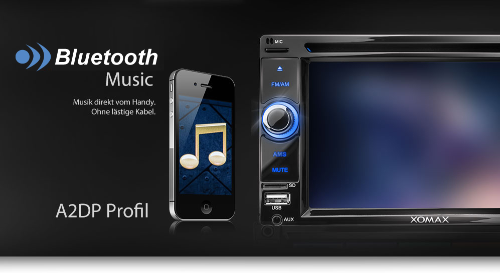 autoradio mit touchscreen display bluetooth dvd cd player. Black Bedroom Furniture Sets. Home Design Ideas