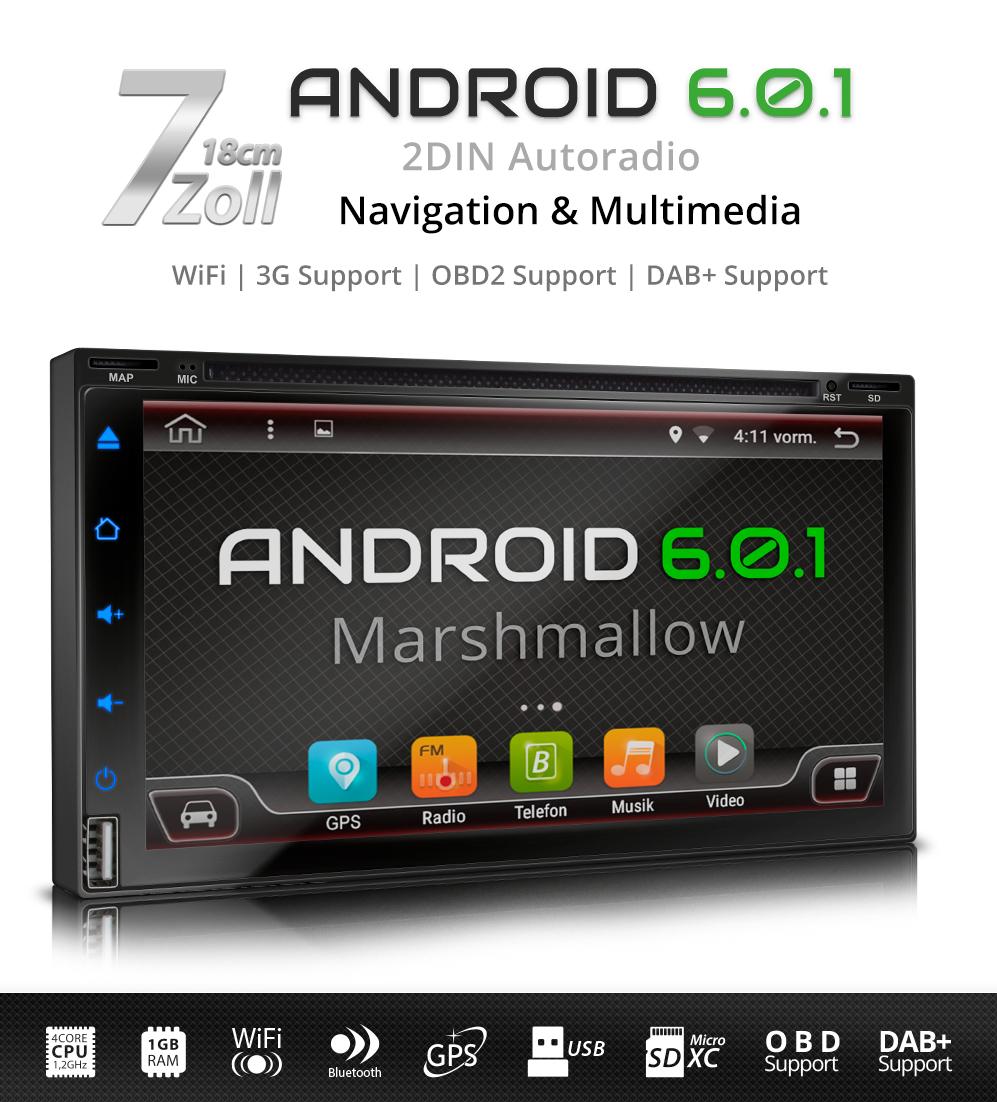 android 6 0 1 autoradio dvd cd navi gps bluetooth dab. Black Bedroom Furniture Sets. Home Design Ideas
