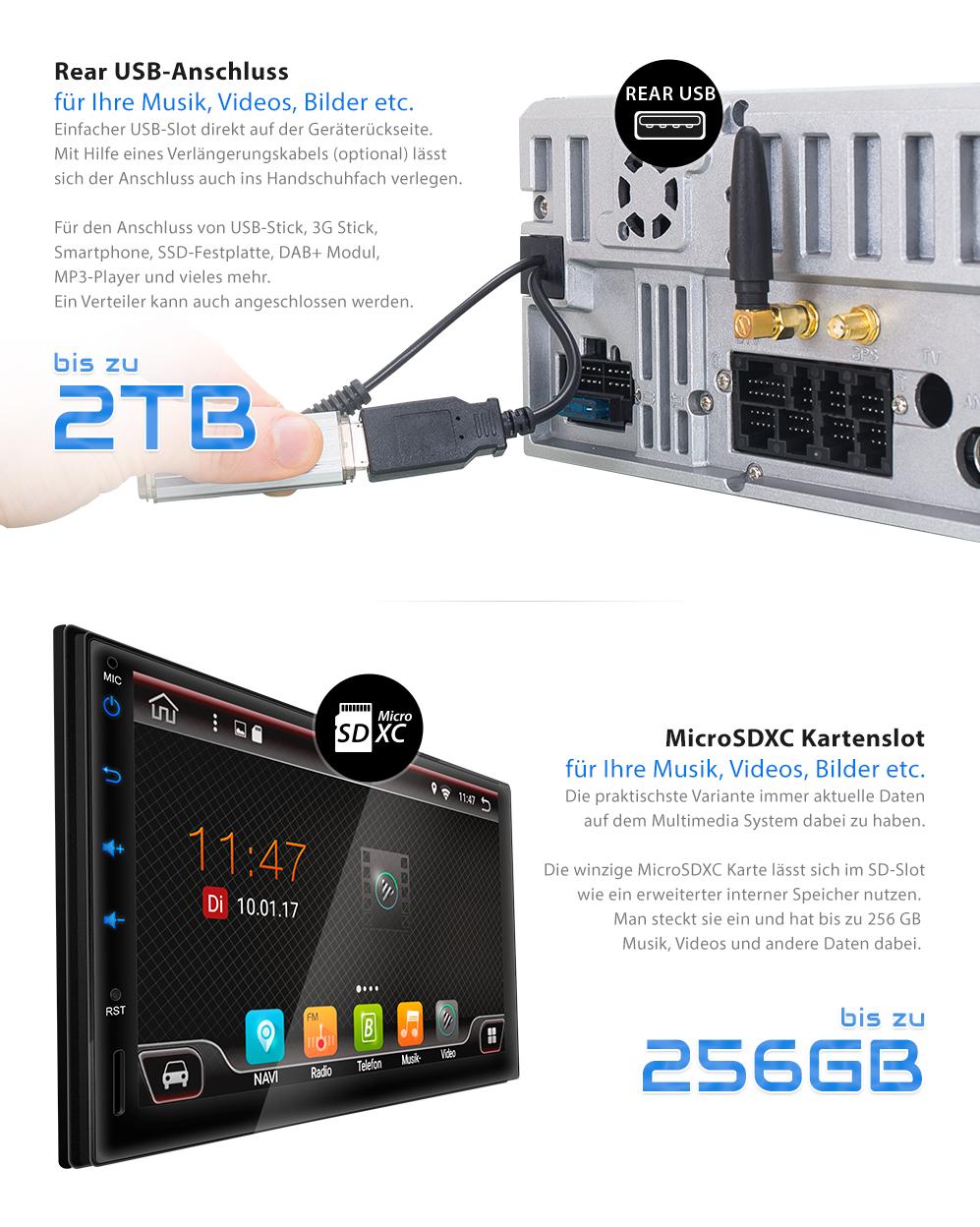 autoradio mit android 6 0 1 navigation dab obd2 wifi 3g. Black Bedroom Furniture Sets. Home Design Ideas