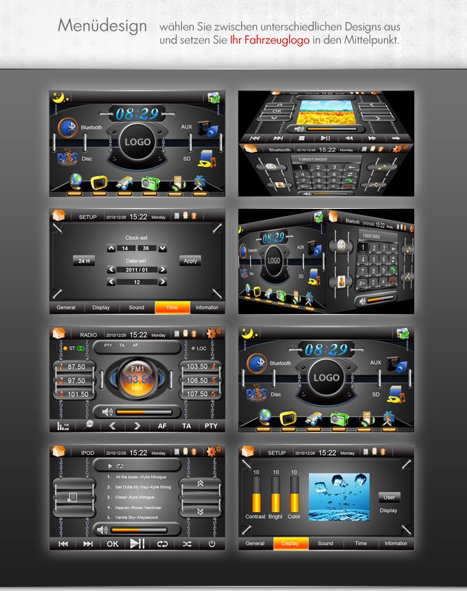 autoradio mit gps navigation navi dvb t bluetooth touchscreen dvd cd usb sd 2din ebay. Black Bedroom Furniture Sets. Home Design Ideas