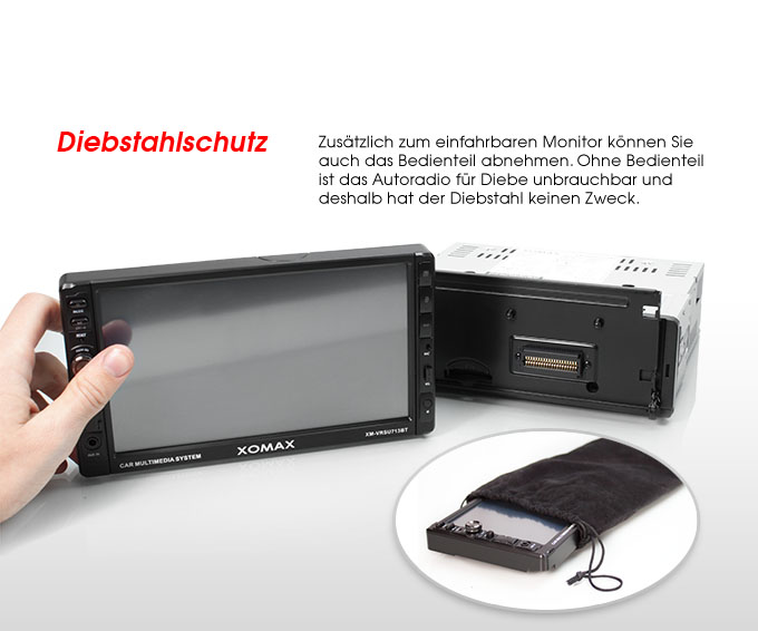 autoradio mit 18cm 7 hd touchscreen bluetooth usb sd 64gb mp3 1din moniceiver ebay. Black Bedroom Furniture Sets. Home Design Ideas