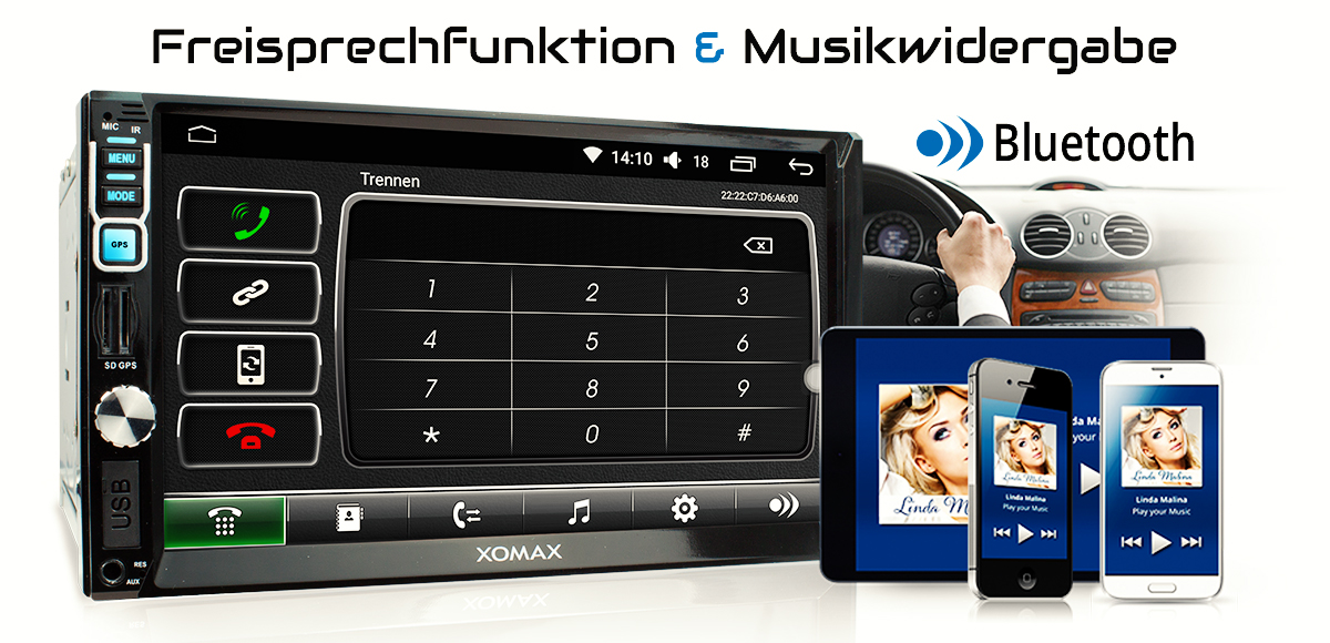 dab autoradio mit android 6 0 1 2gb 32gb navigation navi. Black Bedroom Furniture Sets. Home Design Ideas