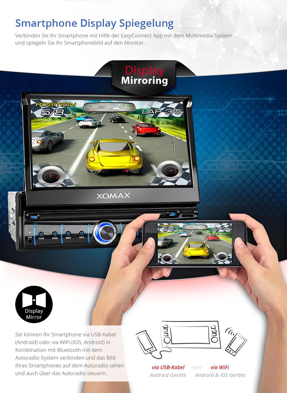 7 Autoradio Mit Android 51 Navi Touchscreen Usb Sd Rds Bluetooth