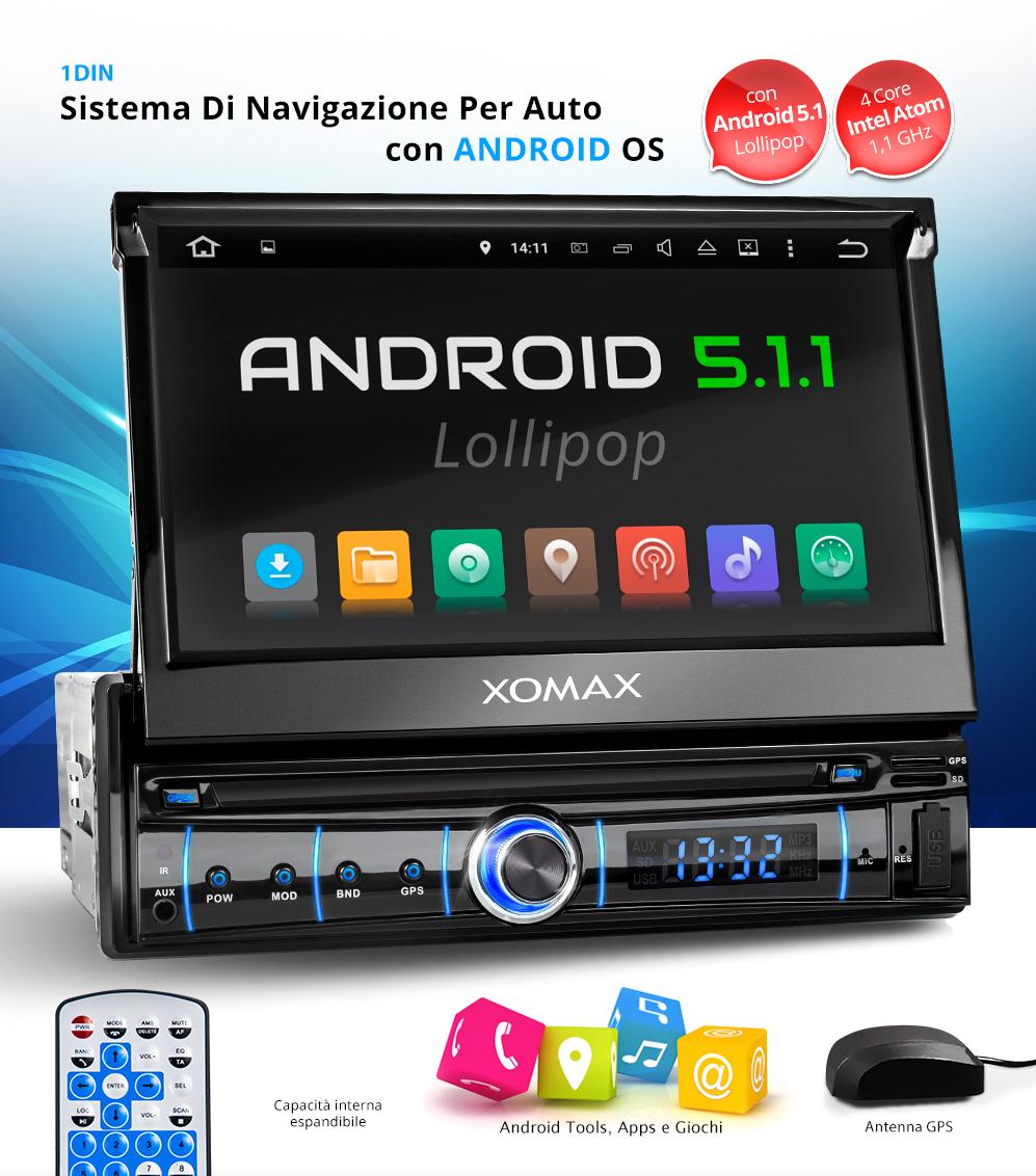 autoradio con android 5 1 7 touchscreen wifi obd. Black Bedroom Furniture Sets. Home Design Ideas