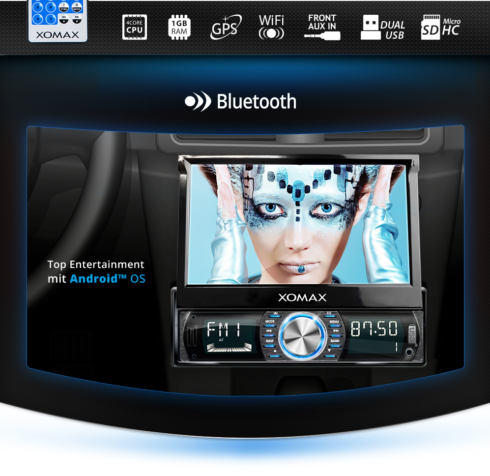 7 car radio with android 5 1 bluetooth navi gps wlan obd. Black Bedroom Furniture Sets. Home Design Ideas
