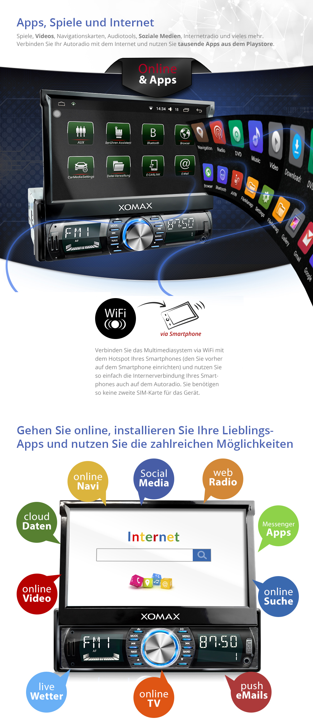 7 autoradio mit android 5 1 bluetooth navi gps wlan obd. Black Bedroom Furniture Sets. Home Design Ideas