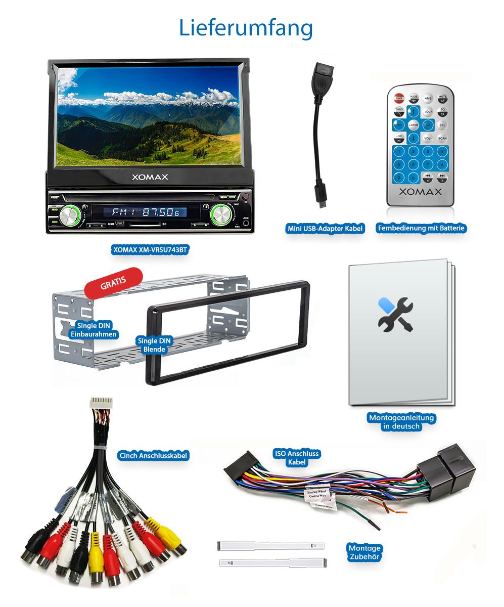 autoradio mit 18cm hd touchscreen video bildschirm. Black Bedroom Furniture Sets. Home Design Ideas