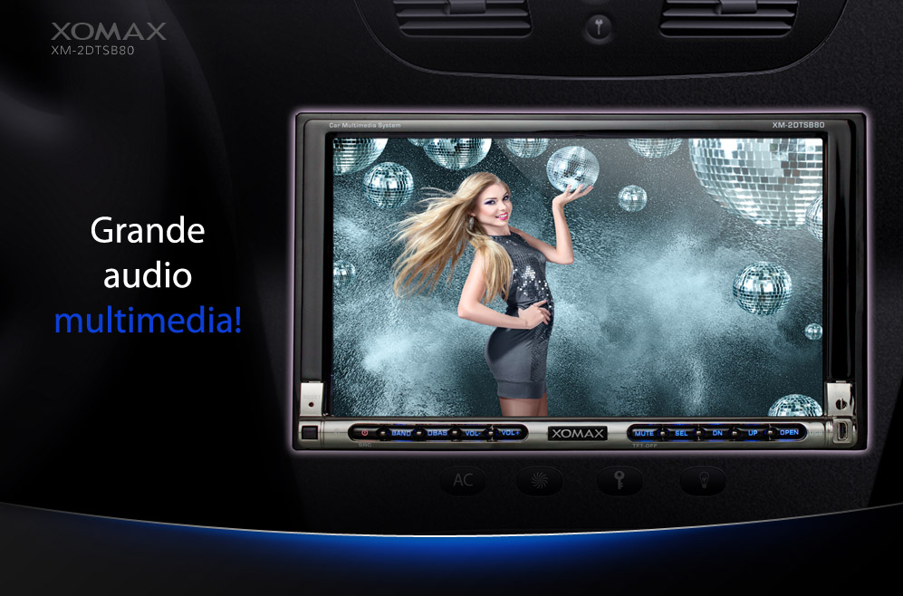 autoradio con bluetooth vivavoce touchscreen lettore dvd. Black Bedroom Furniture Sets. Home Design Ideas