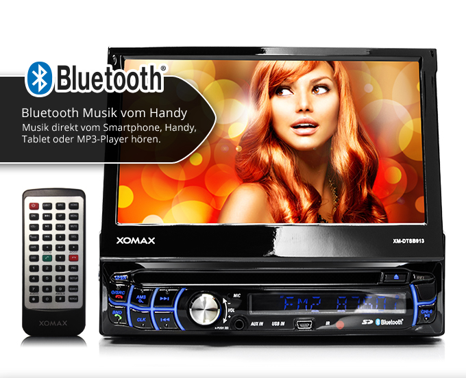 xomax xm dtsb913 autoradio touchscreen bluetooth dvd cd. Black Bedroom Furniture Sets. Home Design Ideas