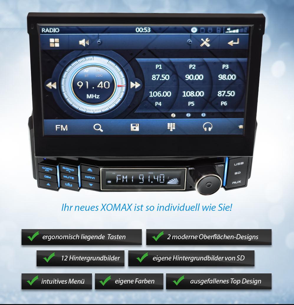 autoradio mit gps navi navigation bluetooth touchscreen. Black Bedroom Furniture Sets. Home Design Ideas