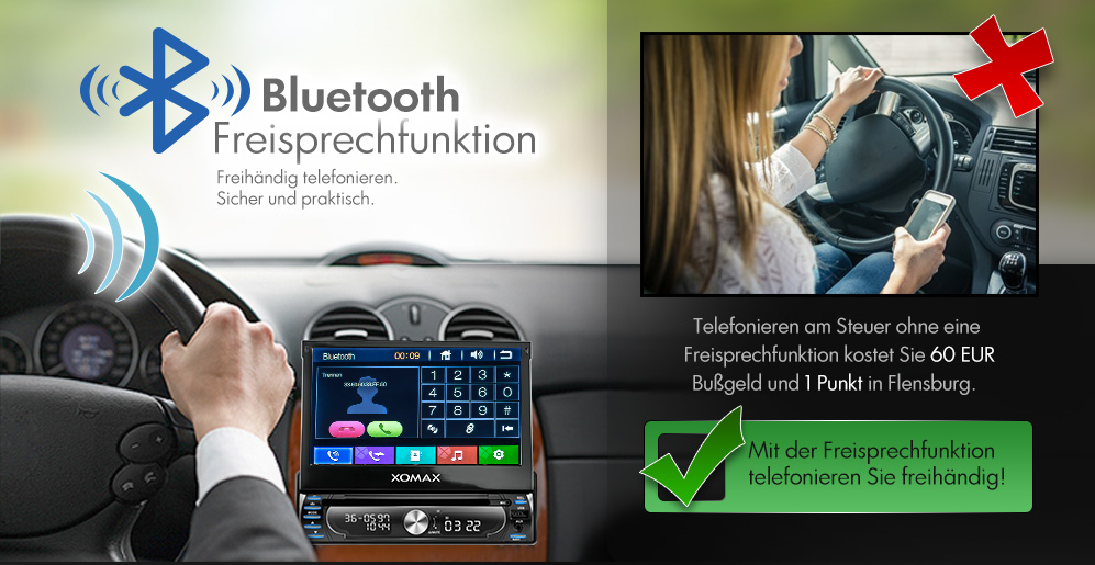 autoradio mit navi gps navigation bluetooth touchscreen. Black Bedroom Furniture Sets. Home Design Ideas