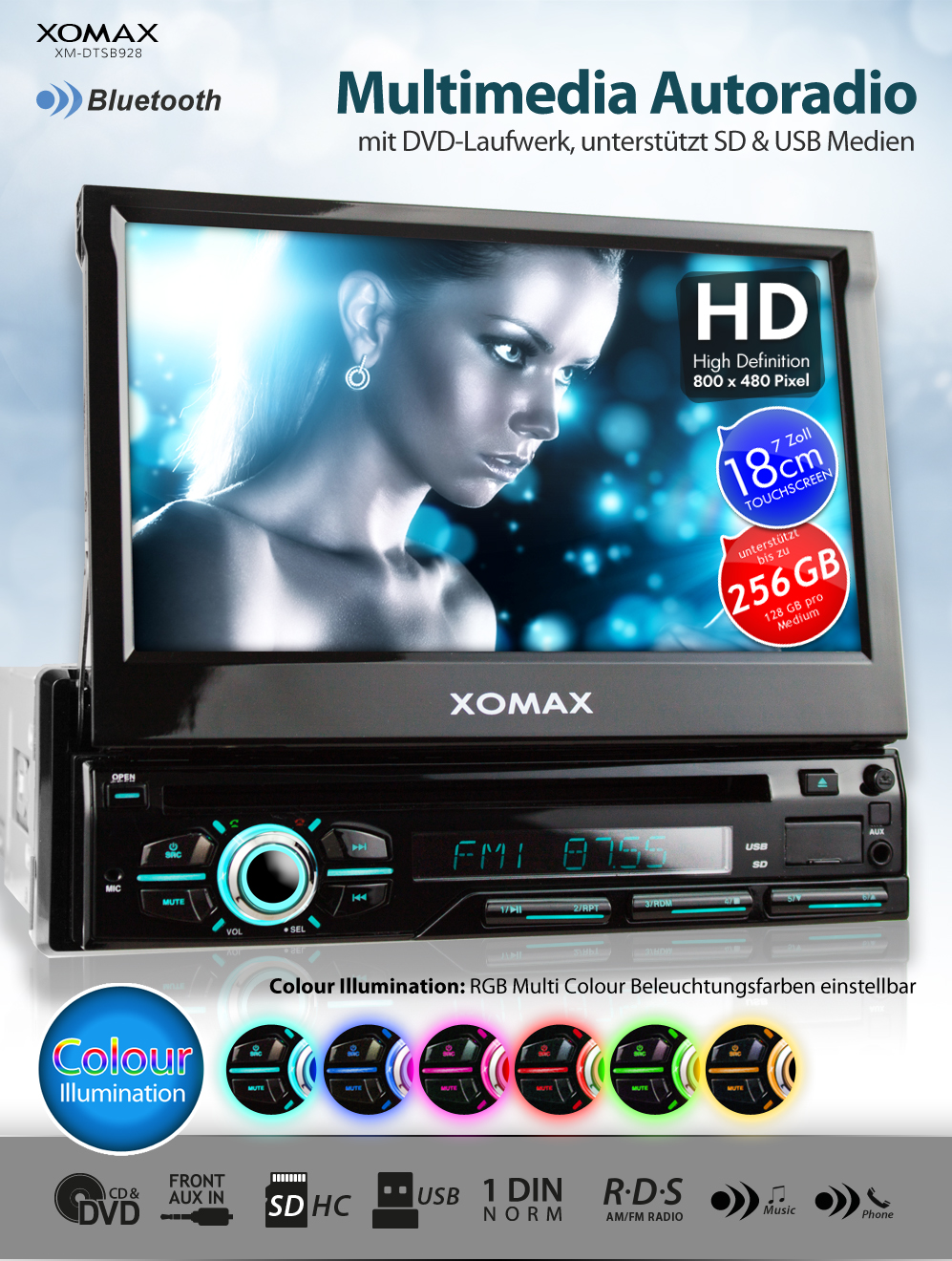 autoradio dvd cd player bluetooth touch in seuzach kaufen. Black Bedroom Furniture Sets. Home Design Ideas