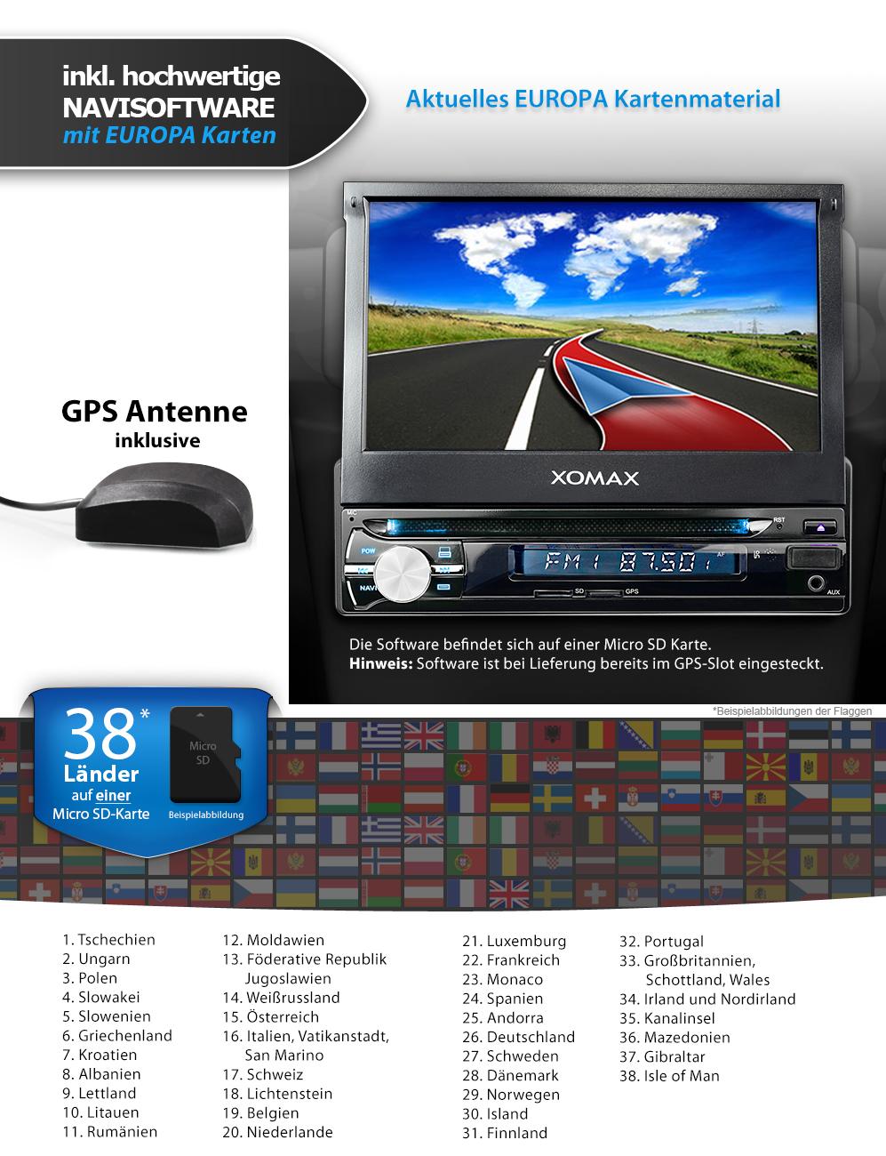 AUTORADIO MIT NAVIGATION NAVI GPS BLUETOOTH 7\