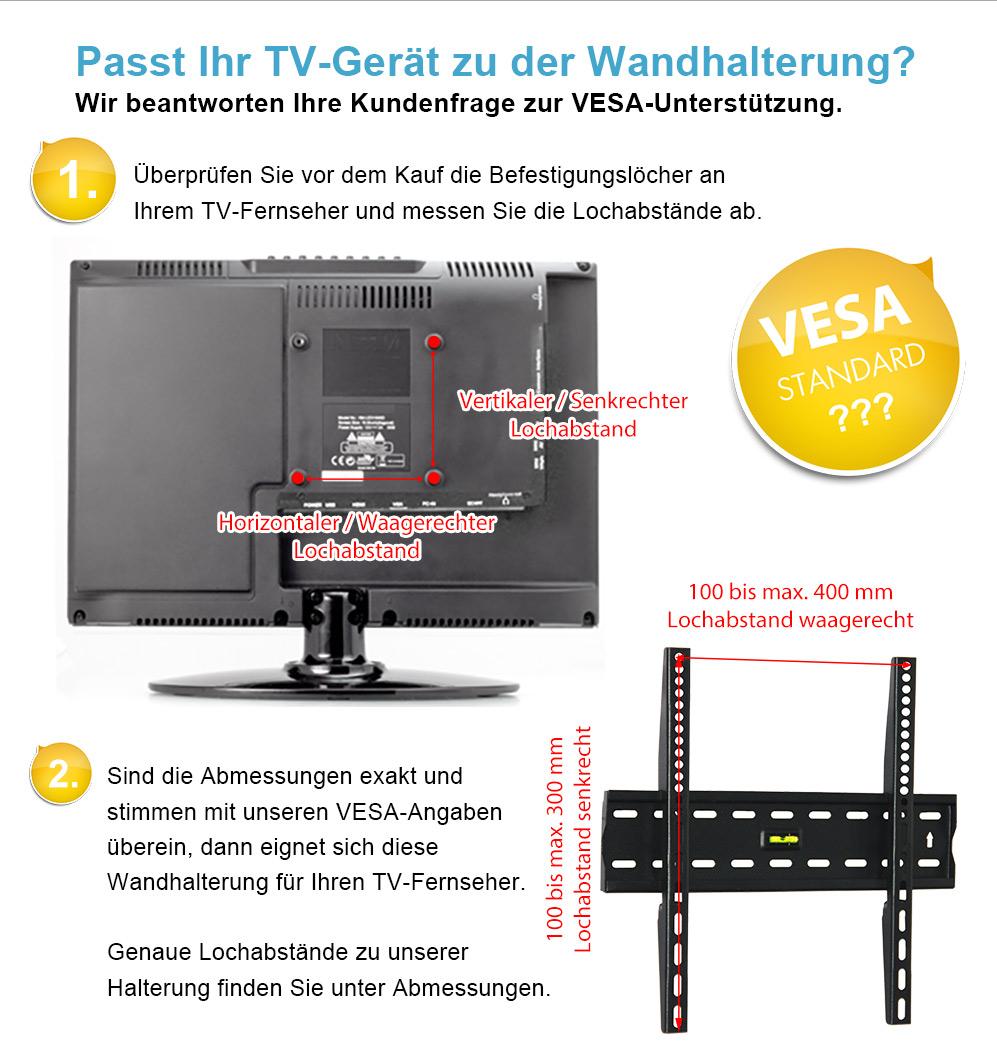Tv wandhalterung t v schwenkbar neigbar f r 22 30 32 37 39 40 42 zoll fernseher 4260182774564 ebay - Wandhalterung fur tv gerate ...
