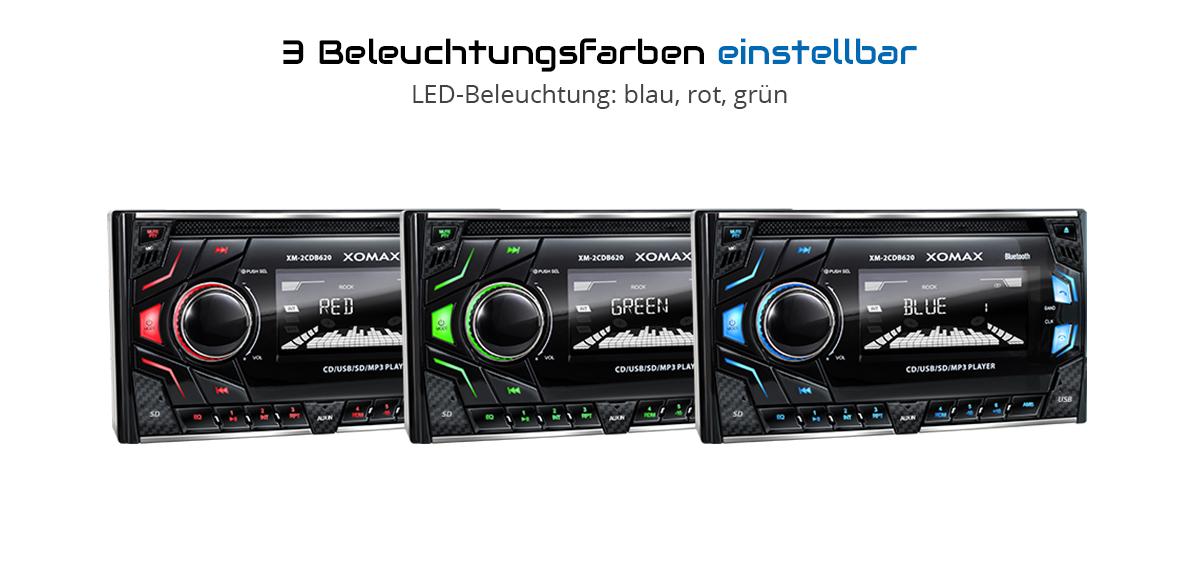 autoradio mit cd player bluetooth freisprech usb micro sd. Black Bedroom Furniture Sets. Home Design Ideas