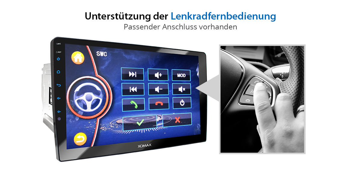 autoradio mit navi gps 10 touch monitor usb bluetooth mp3. Black Bedroom Furniture Sets. Home Design Ideas
