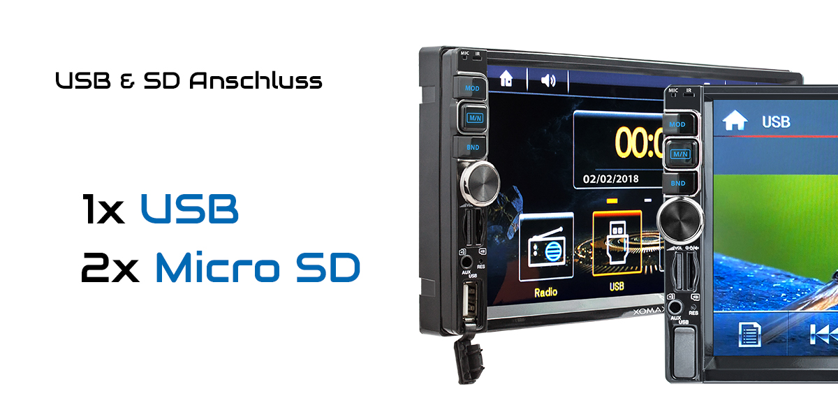 autoradio mit navi gps usb sd bluetooth 7 touch monitor. Black Bedroom Furniture Sets. Home Design Ideas