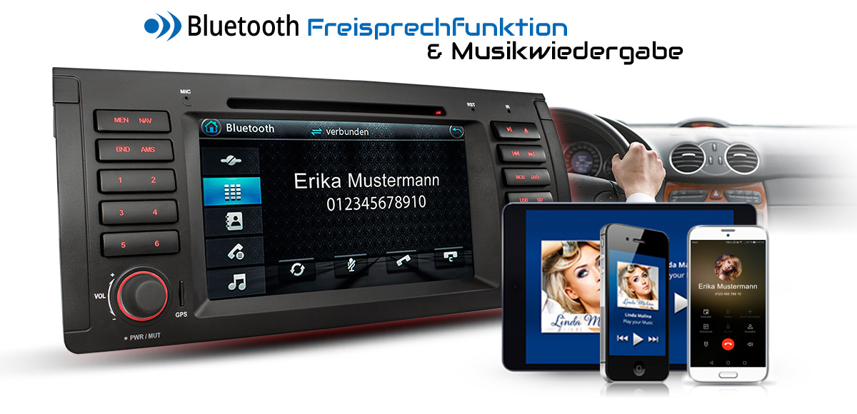 autoradio mit navi bluetooth dvd usb sd passend f r bmw. Black Bedroom Furniture Sets. Home Design Ideas