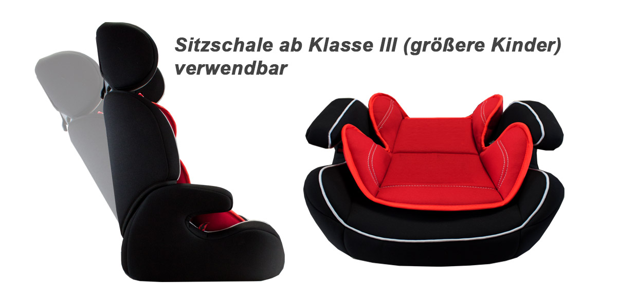 auto kindersitz 9 36kg gruppe 1 2 3 i ii iii rot schwarz. Black Bedroom Furniture Sets. Home Design Ideas