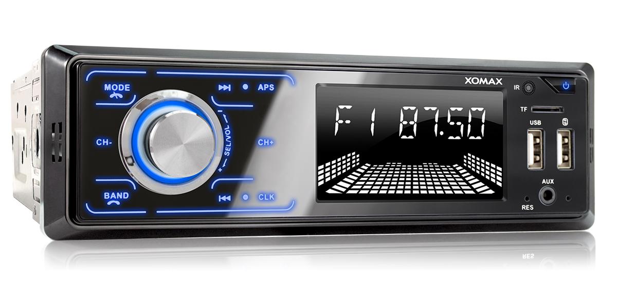 128 GB por Medio XOMAX XM-R271 Autoradio Radio de Coche con Bluetooth Manos Libres y m/úsica I FM I USB y SD I WMA WAV I AUX-IN I DIN 1