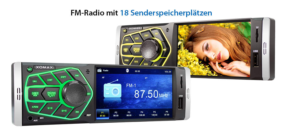 autoradio mit 10 cm 4 zoll video bildschirm usb sd aux. Black Bedroom Furniture Sets. Home Design Ideas