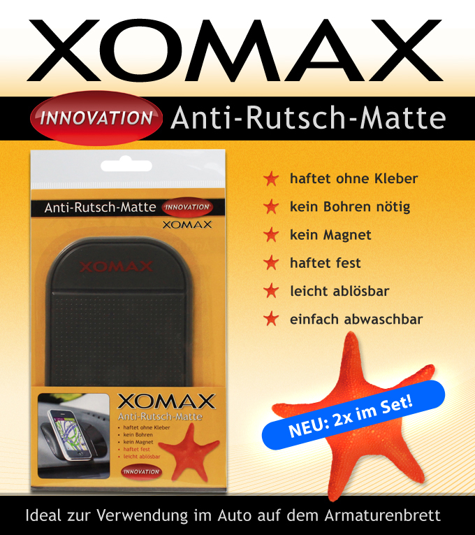 2x xomax anti rutsch matte auto kfz handy smartphone. Black Bedroom Furniture Sets. Home Design Ideas