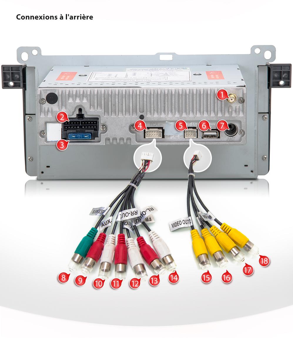 Autoradio Bmw E46 Serie 3 Gps Bluetooth 201 Cran Tactile Dvd