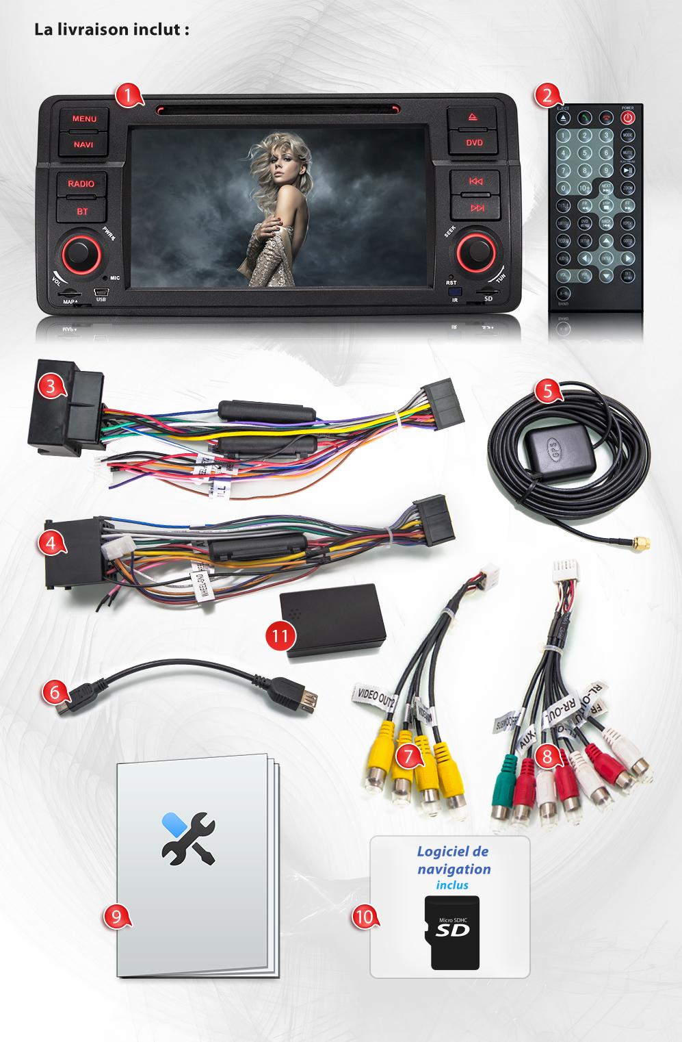 autoradio bmw e46 serie 3 gps bluetooth cran tactile dvd cd usb sd mp3 1din ebay. Black Bedroom Furniture Sets. Home Design Ideas