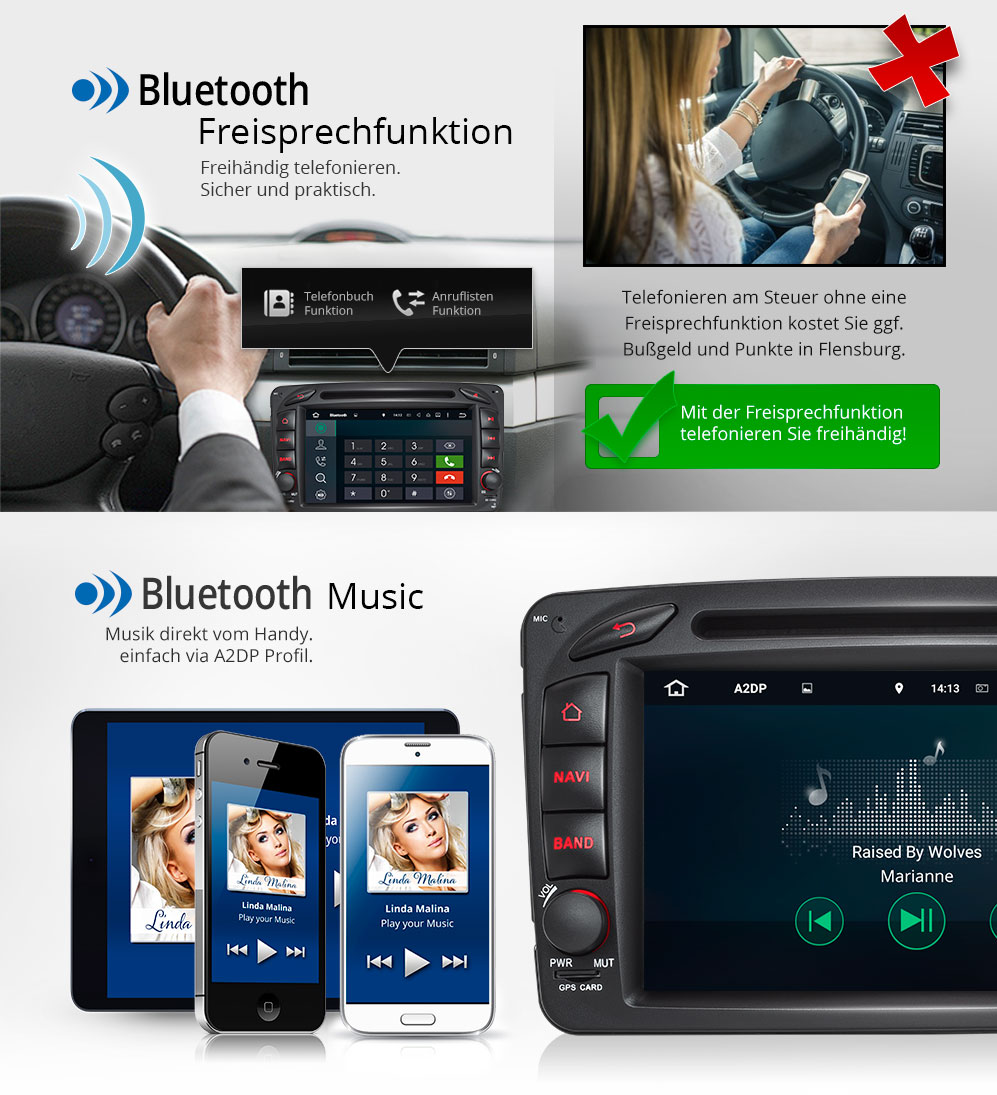 autoradio mit android 5 1 dvd gps navi passend f r mercedes vito w203 w168 c209 ebay. Black Bedroom Furniture Sets. Home Design Ideas