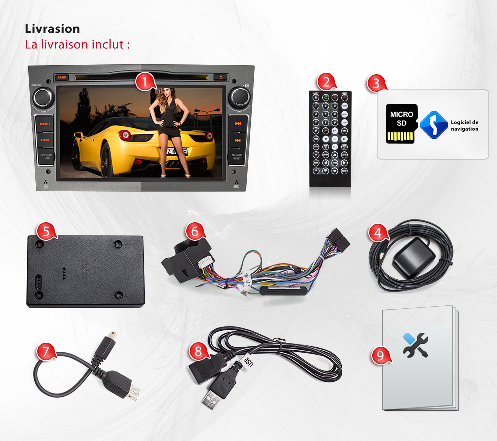 autoradio pour opel zafira avec navi gps navigation bluetooth dvd cd usb sd 2din ebay. Black Bedroom Furniture Sets. Home Design Ideas