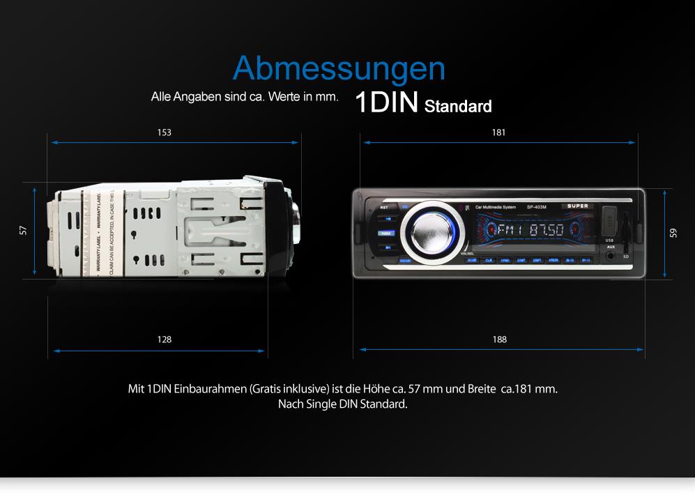 autoradio mit usb sd 64gb mp3 wma aux in blau chrome berlin. Black Bedroom Furniture Sets. Home Design Ideas