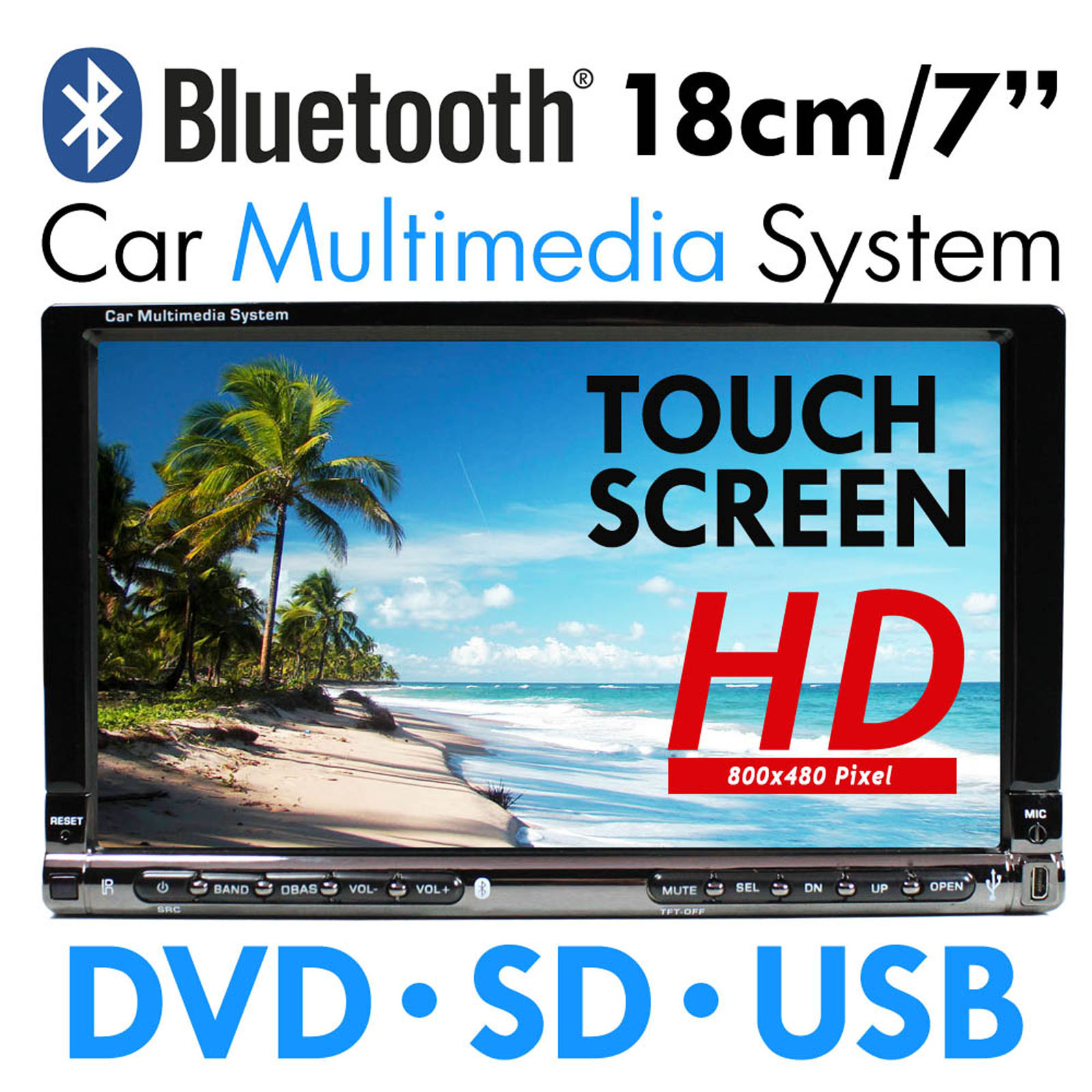 AUTORADIO-BLUETOOTH-7-18cm-TOUCHSCREEN-USB-SD-MP3-2DIN-DOPPEL-DIN-MONICEIVER