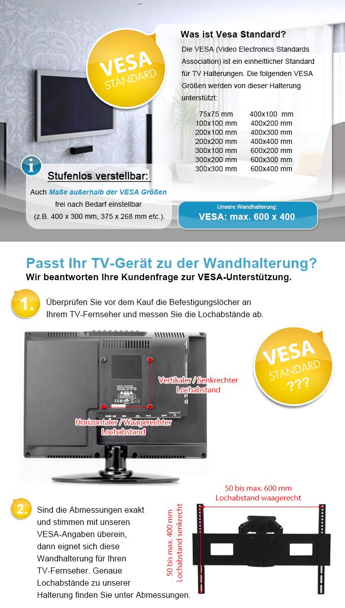 tv wandhalterung t v vesa 600x400 schwenkbar neigbar 50 55 60 65 zoll fernseher. Black Bedroom Furniture Sets. Home Design Ideas