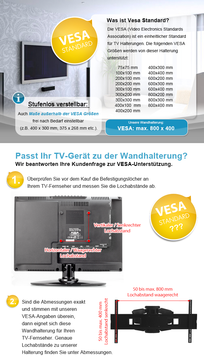 tv wandhalterung t v vesa 800x400 schwenkbar neigbar 55 60 65 70 zoll fernseher ebay. Black Bedroom Furniture Sets. Home Design Ideas