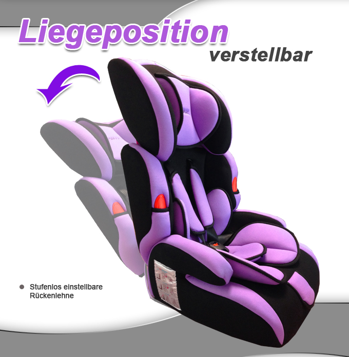 auto kindersitz 9 36kg gruppe 1 2 3 i ii iii farbe lila violett kinder autositz ebay. Black Bedroom Furniture Sets. Home Design Ideas