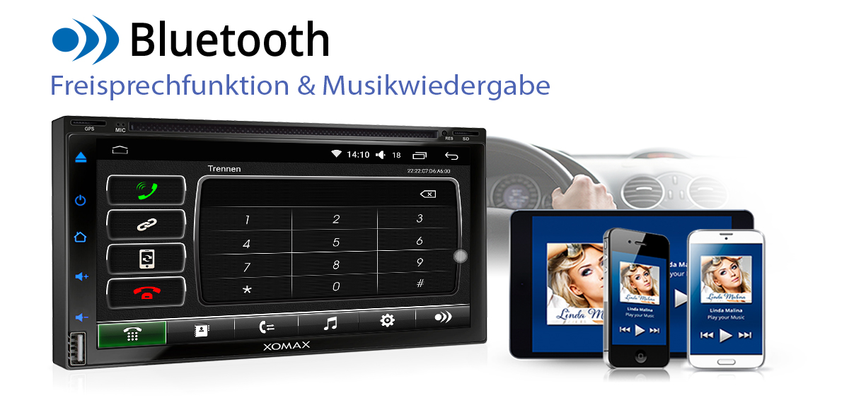 autoradio mit android 6 0 1 2gb 32gb dvd cd navi gps. Black Bedroom Furniture Sets. Home Design Ideas