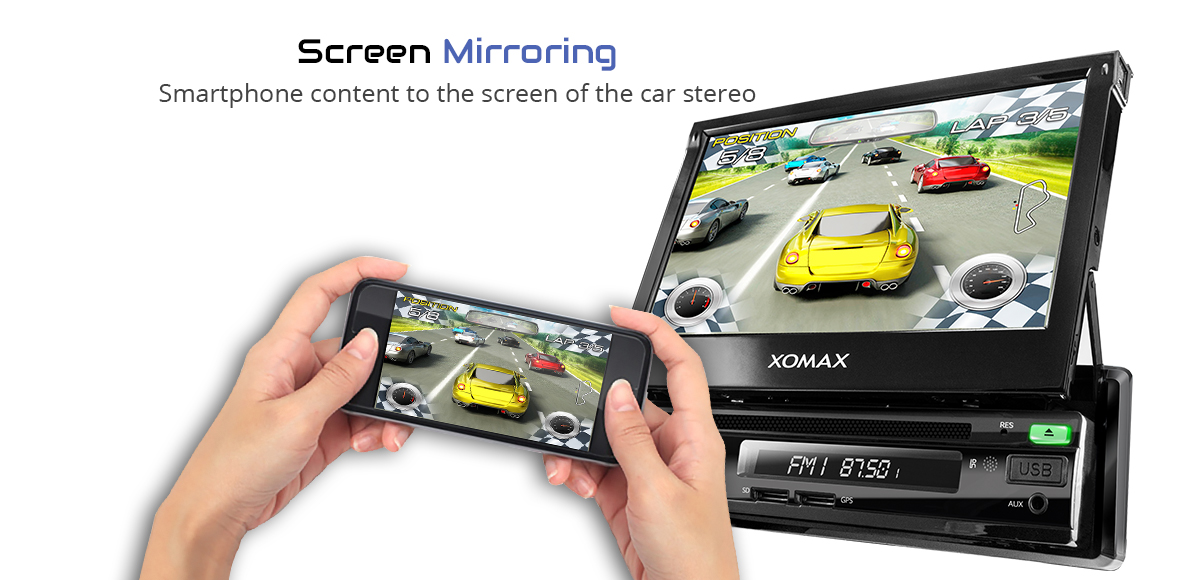 CAR RADIO WITH ANDROID 7.1.1 GPS NAVIGATION DVD CD ...