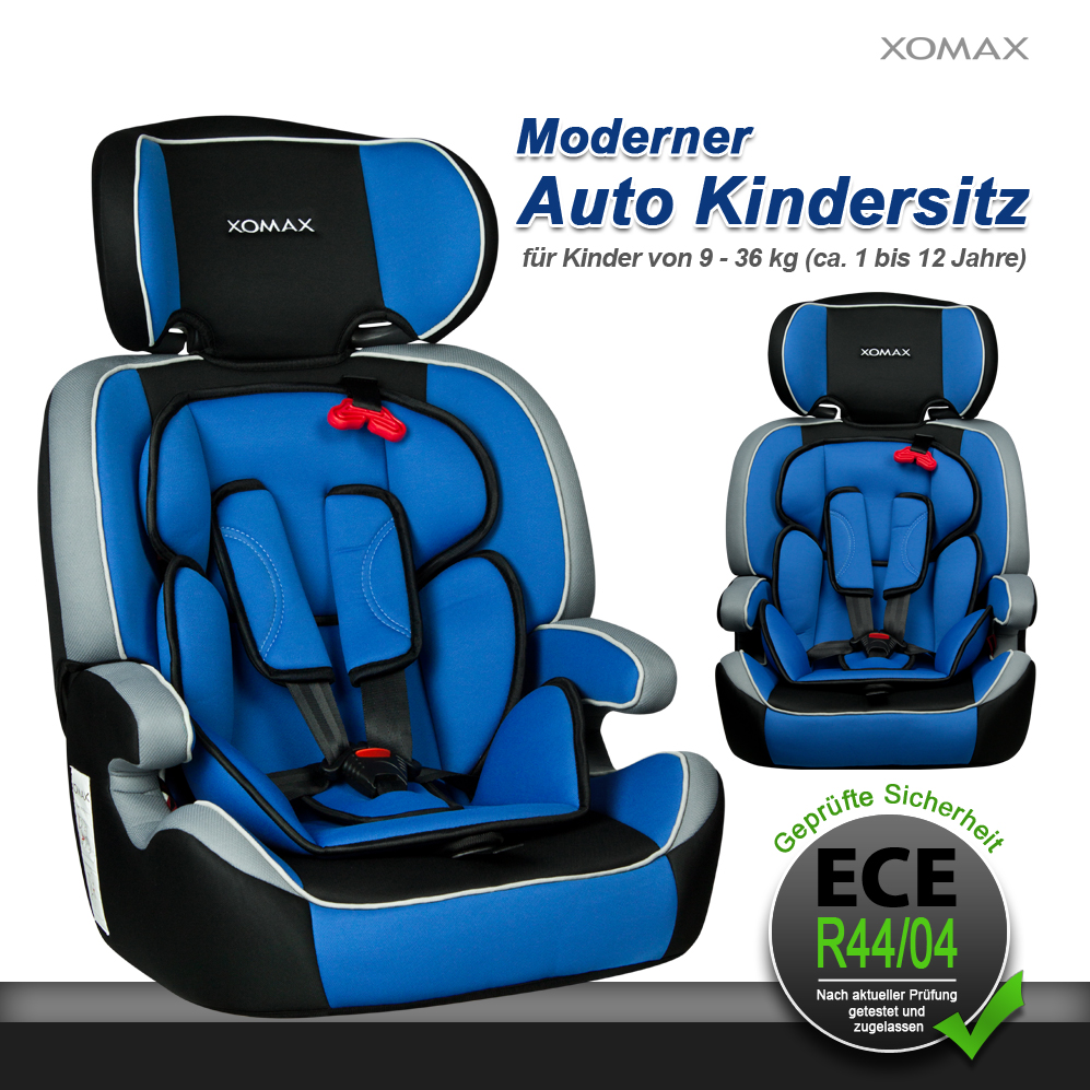 xomax xm k4 auto kindersitz 9 36kg gruppe1 2 3 blau kinder. Black Bedroom Furniture Sets. Home Design Ideas