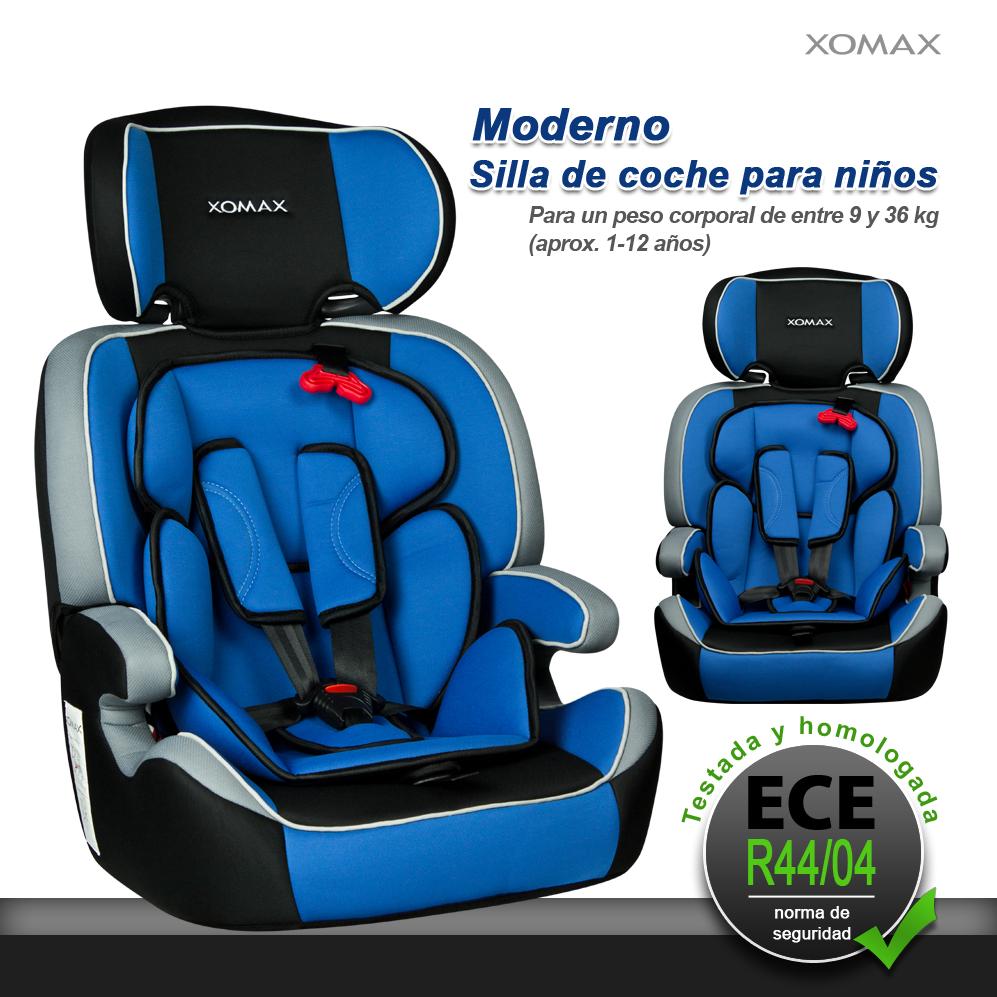 Asiento de coche para ni os silla regulable 9 36kg grupos 1 2 3 i ii iii azul ebay - Tectake silla de coche para ninos ...