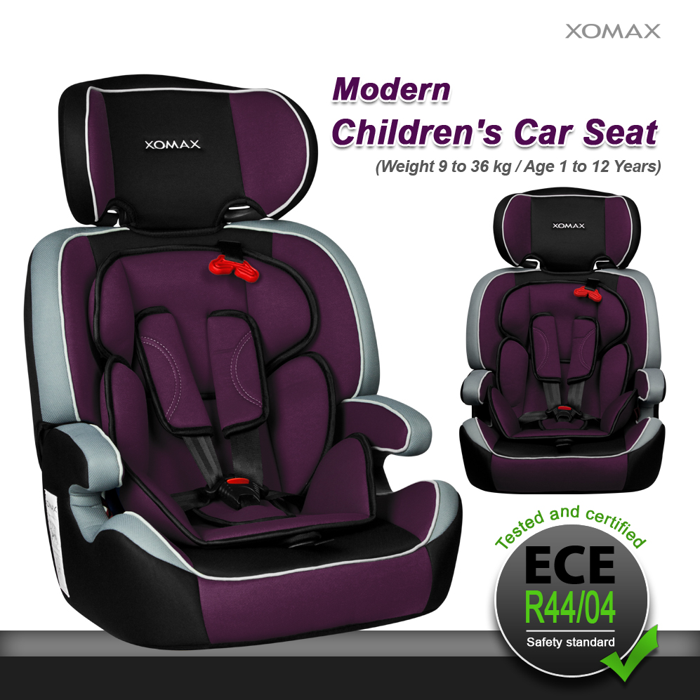 convertible baby child car seat booster group 1 2 3 9 36 kg purple black grey ebay. Black Bedroom Furniture Sets. Home Design Ideas