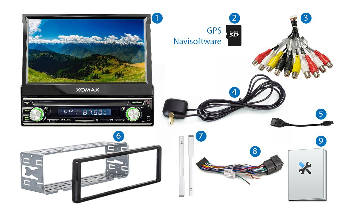 autoradio mit navigation gps navi touchscreen bildschirm. Black Bedroom Furniture Sets. Home Design Ideas