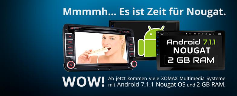 XOMAX Autoradios mit Android 7 OS
